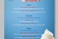 A Bright 'n' Shiny July Th Menu Template Update With Your pertaining to 4Th Of July Menu Template