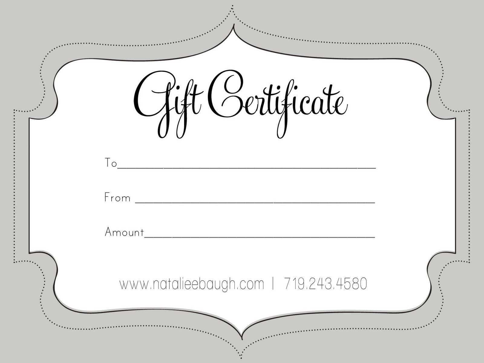 A Cute Looking Gift Certificate  S P A  Gift Certificate Template In Black And White Gift Certificate Template Free