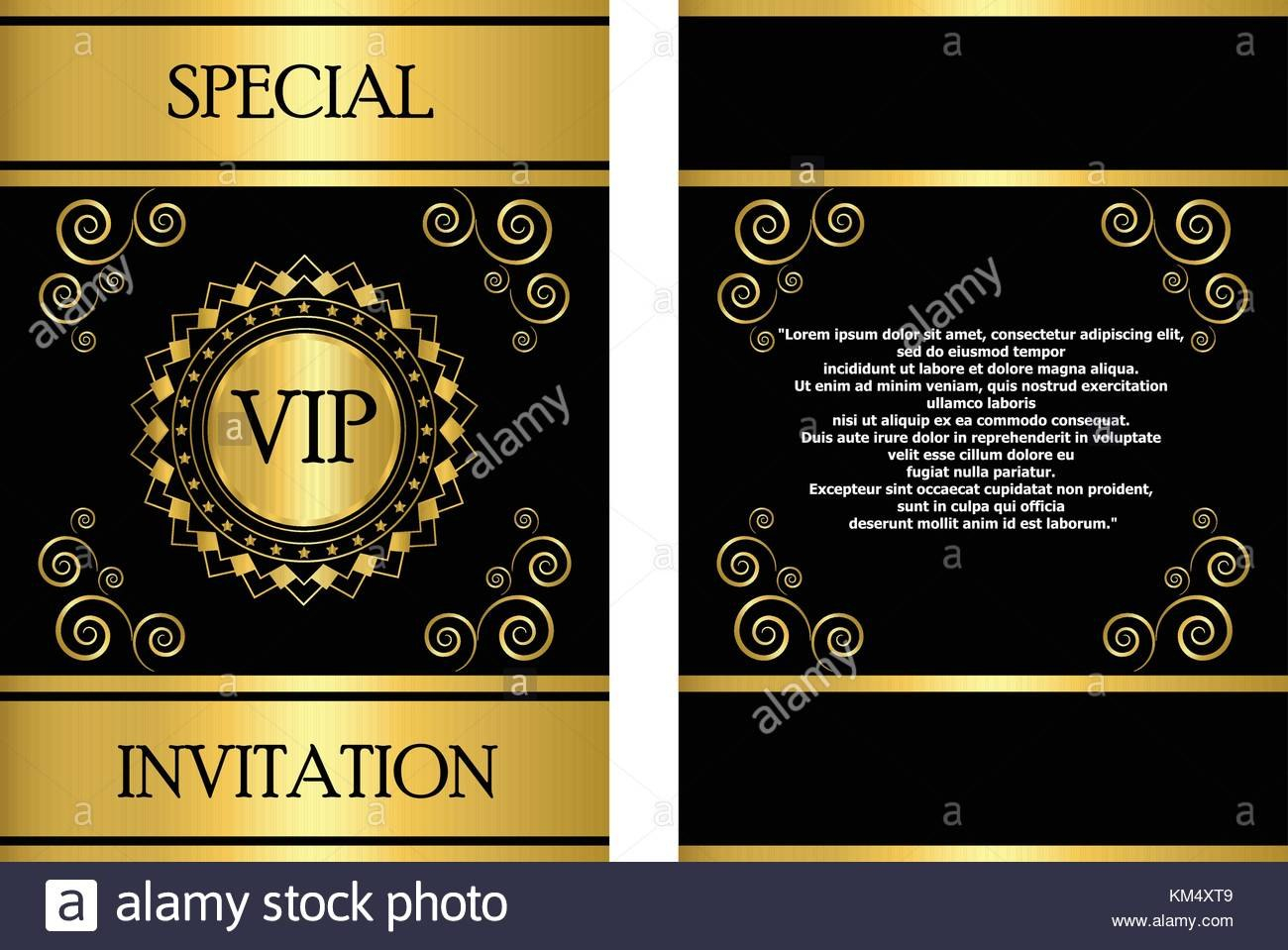 A Golden Vip Invitation Card Template That Can Be Used For Stock Regarding Event Invitation Card Template