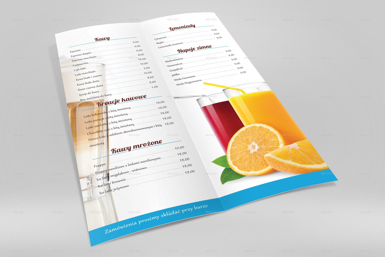 A Half Folded Menu Card Mockupnishima  Graphicriver With Regard To Half Fold Menu Template