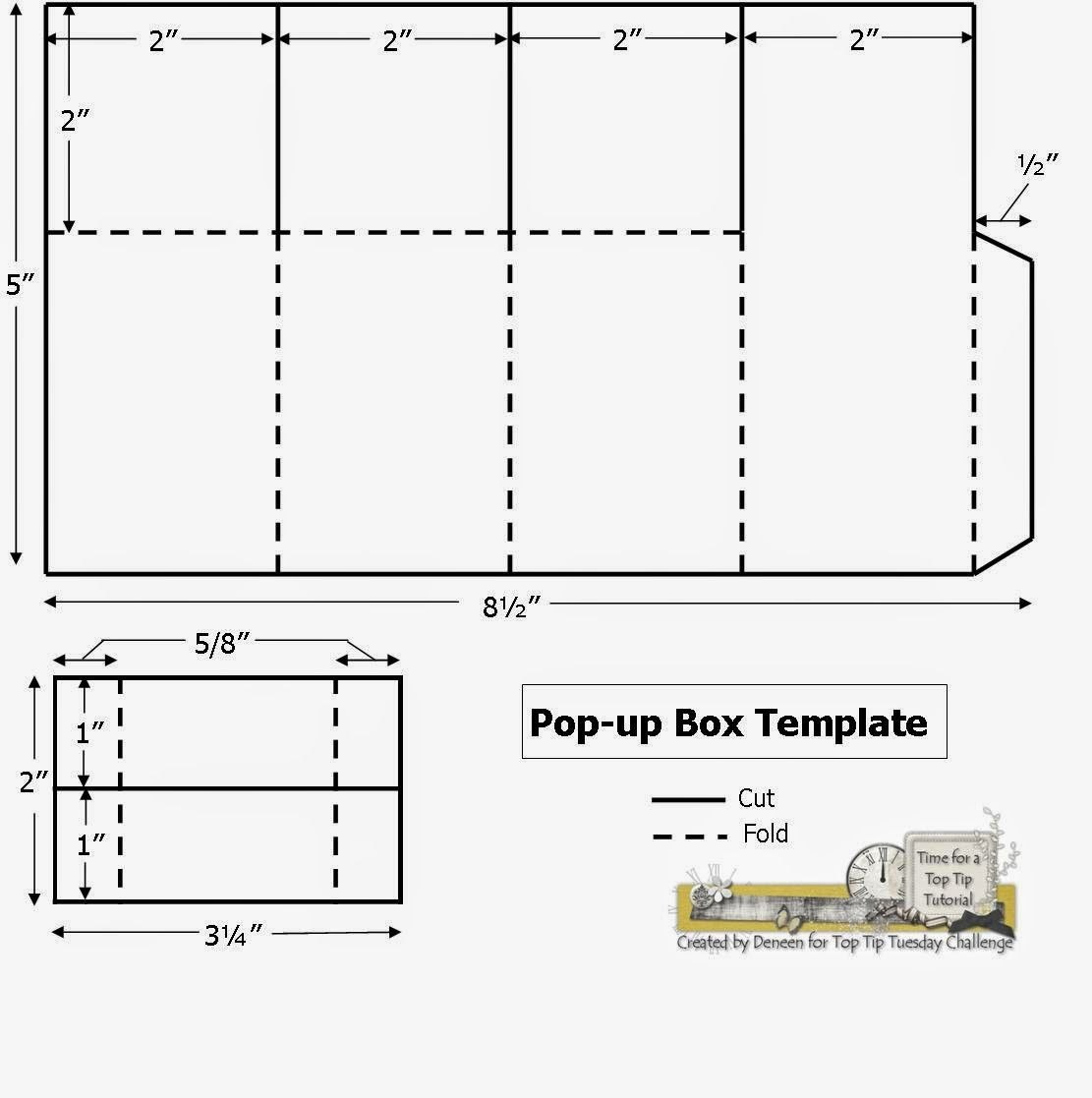 A Path Of Paper Top Tip Tuesday Numbers Challenge And Pop Up Box For Pop Up Card Box Template
