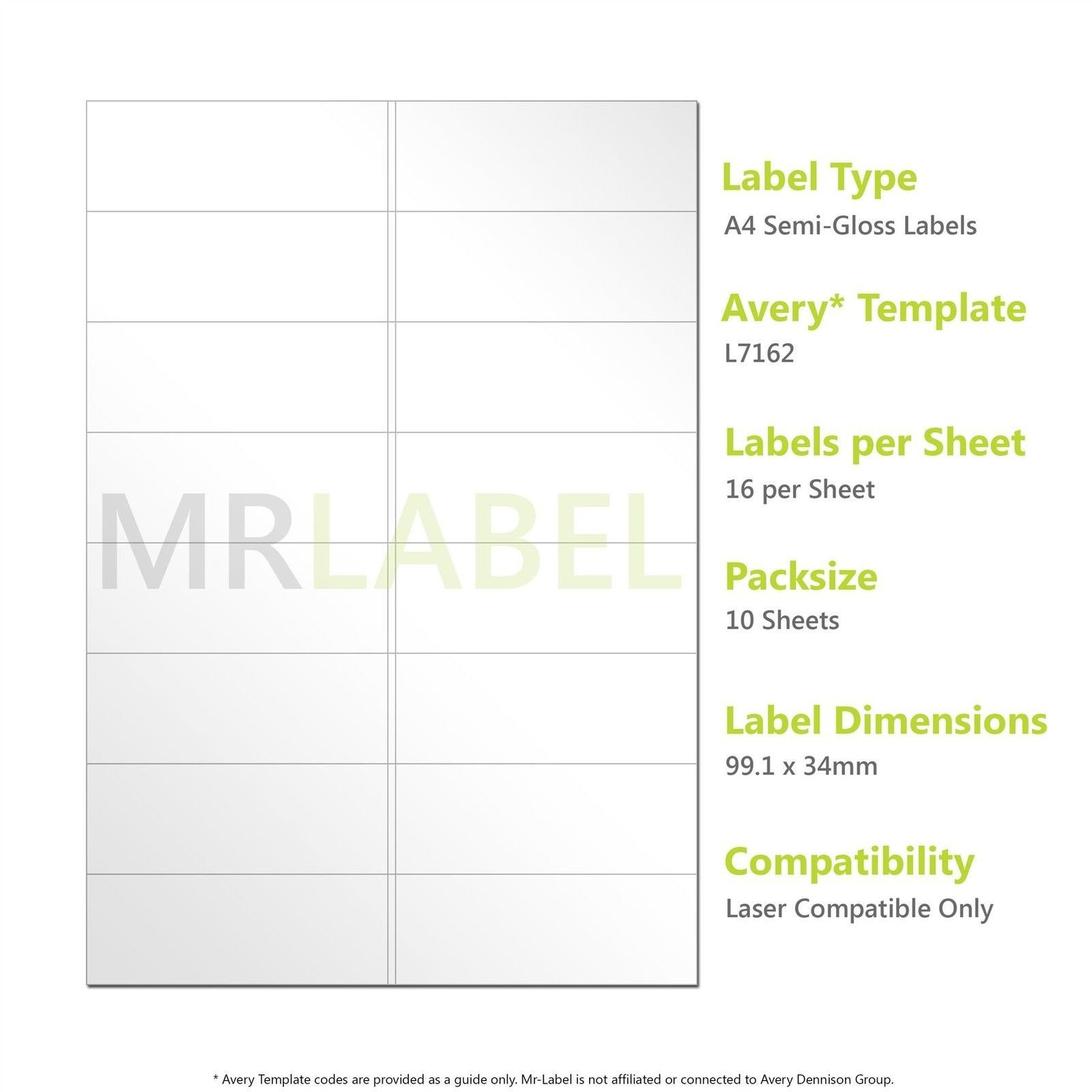 A Semigloss Labels   Per Sheet   Sheets  Laser Compatible Throughout 16 Labels Per Page Template
