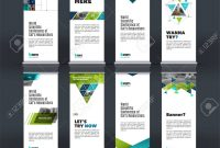 Abstract Business Vector Set Of Modern Roll Up Banner Stand Design pertaining to Banner Stand Design Templates