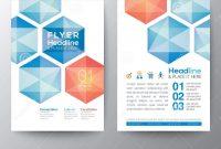 Abstract Hexagon  Poster Brochure Flyer Design Template Layout regarding E Brochure Design Templates
