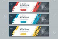 Abstract Horizontal Web Banner Design Template Backgrounds Royalty regarding Website Banner Design Templates