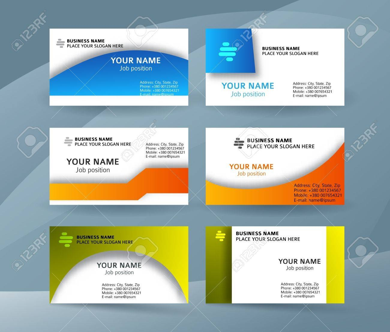 Abstract Professional And Designer Business Card Template Or Throughout Professional Name Card Template