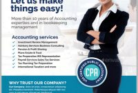 Accounting  Bookkeeping Services Flyer Templates  Psd Ai within Accounting Flyer Templates