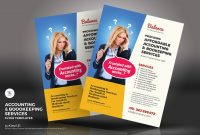 Accounting  Bookkeeping Services Flyers Corporate Identity regarding Accounting Flyer Templates