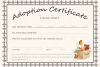 Adoption Certificate Template You Will Never Believe These with Child Adoption Certificate Template