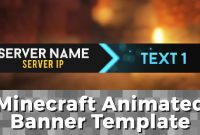 "Advanced Gif Minecraft Animated Banner Template  ""elegant Dazzle"" in Minecraft Server Banner Template"