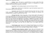 Aexhibitunsecur inside Revolving Credit Facility Agreement Template