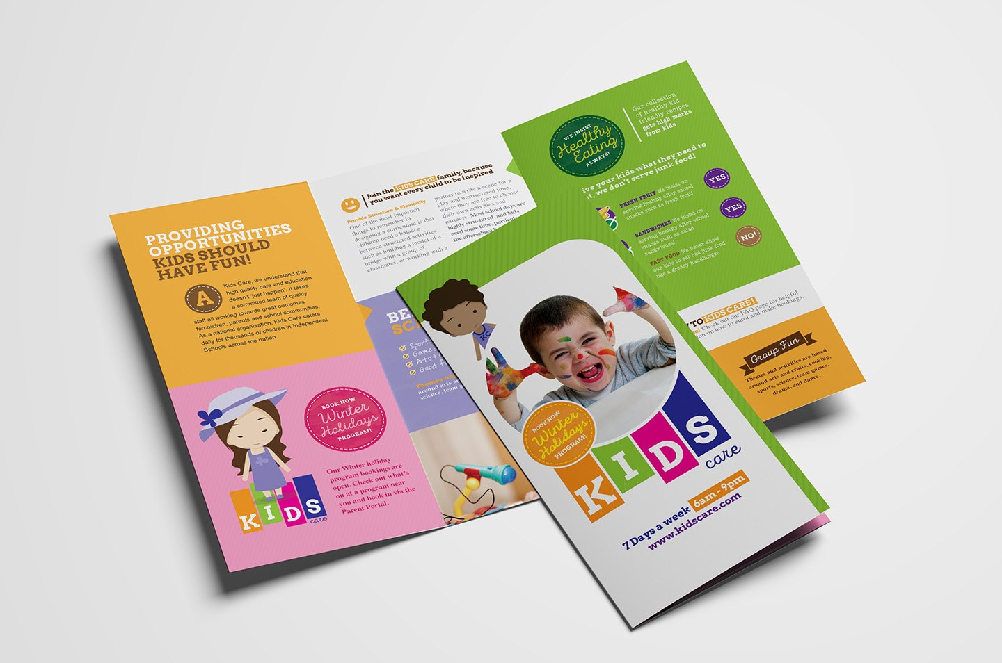 After School Care Trifold Brochure Template In Psd Ai  Vector In School Brochure Design Templates