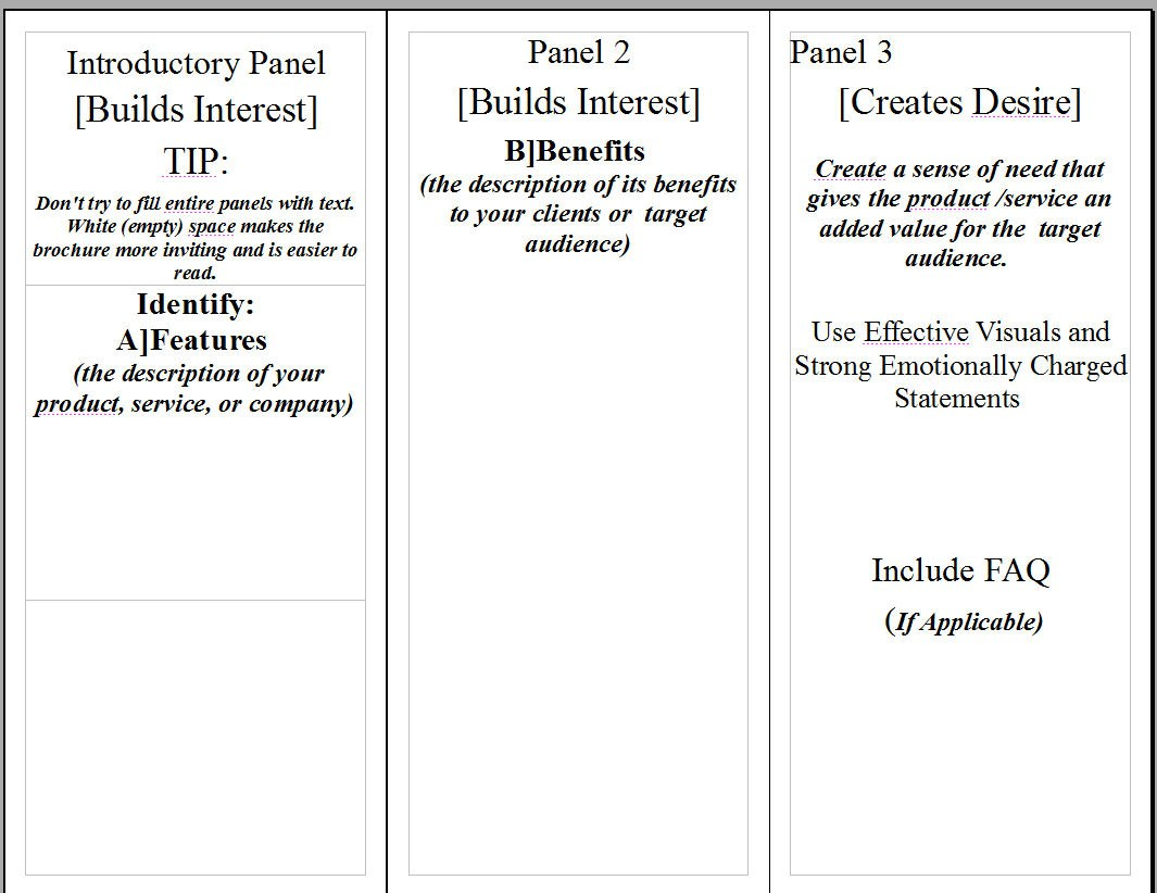 Aida For Brochures – Dark Pines Media Inside Student Brochure Template
