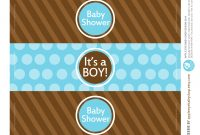 All Sizes  Free Printable  Water Bottle Labels Baby Boyapple regarding Baby Shower Bottle Labels Template