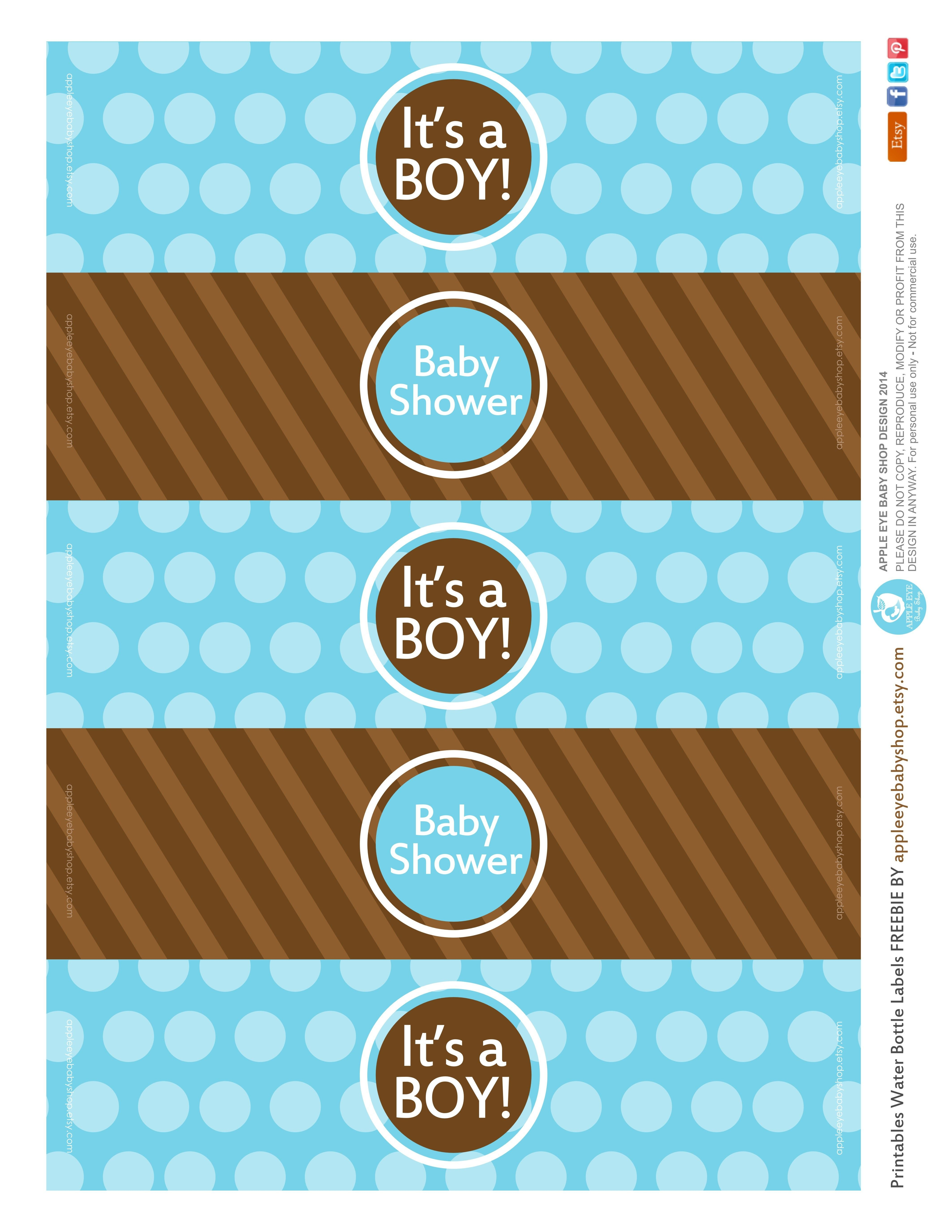 All Sizes  Free Printable  Water Bottle Labels Baby Boyapple Throughout Free Water Bottle Labels For Baby Shower Template
