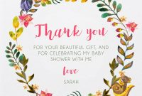 Alluring Forest  Dp  Baby Shower Thank You Cards intended for Thank You Card Template For Baby Shower