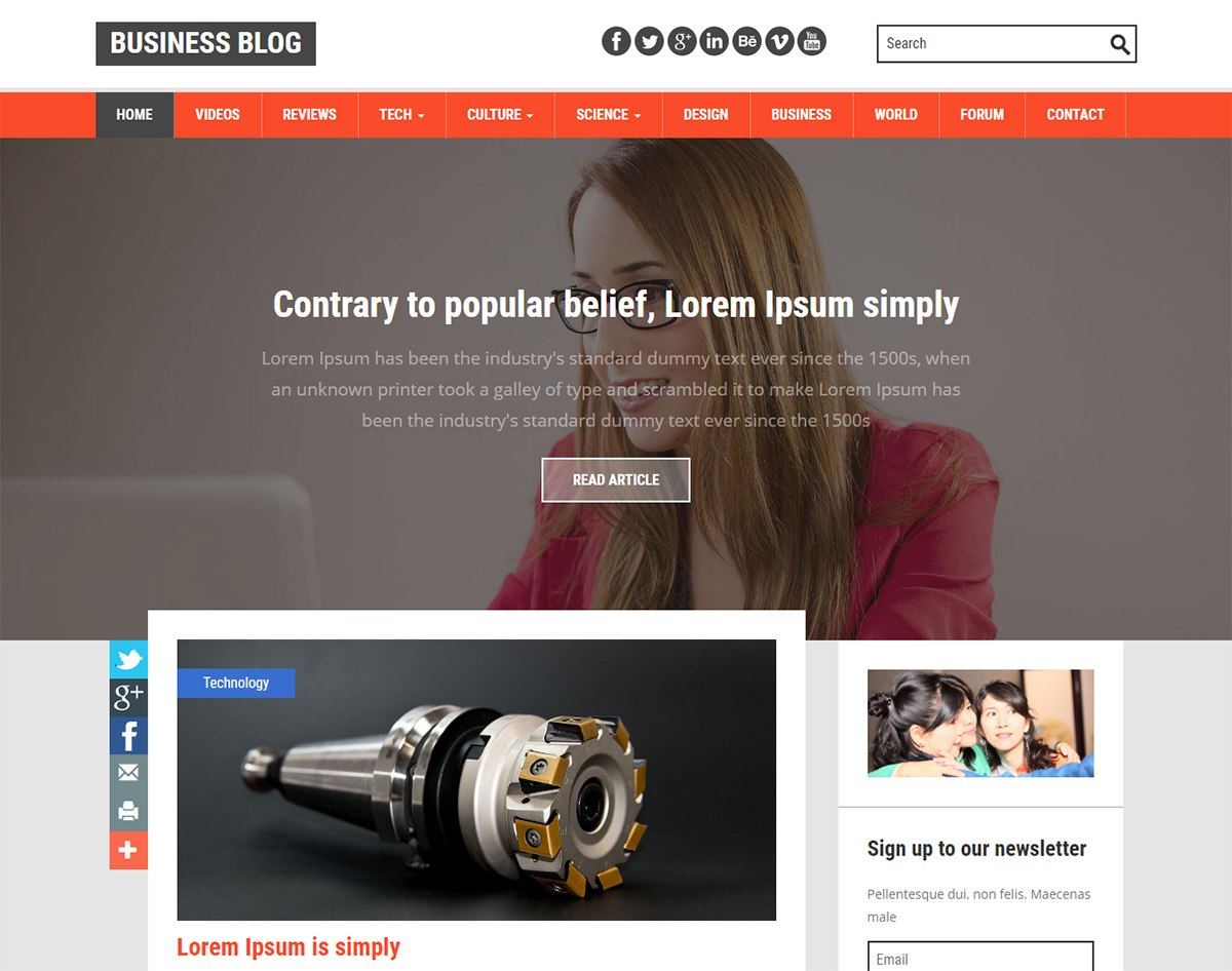Amazing Free Responsive Blogger Templates For   Uicookies Within Free Blogger Templates For Business