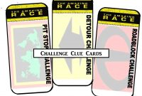 Amazing Race Printables Review  Concert Katie regarding Clue Card Template