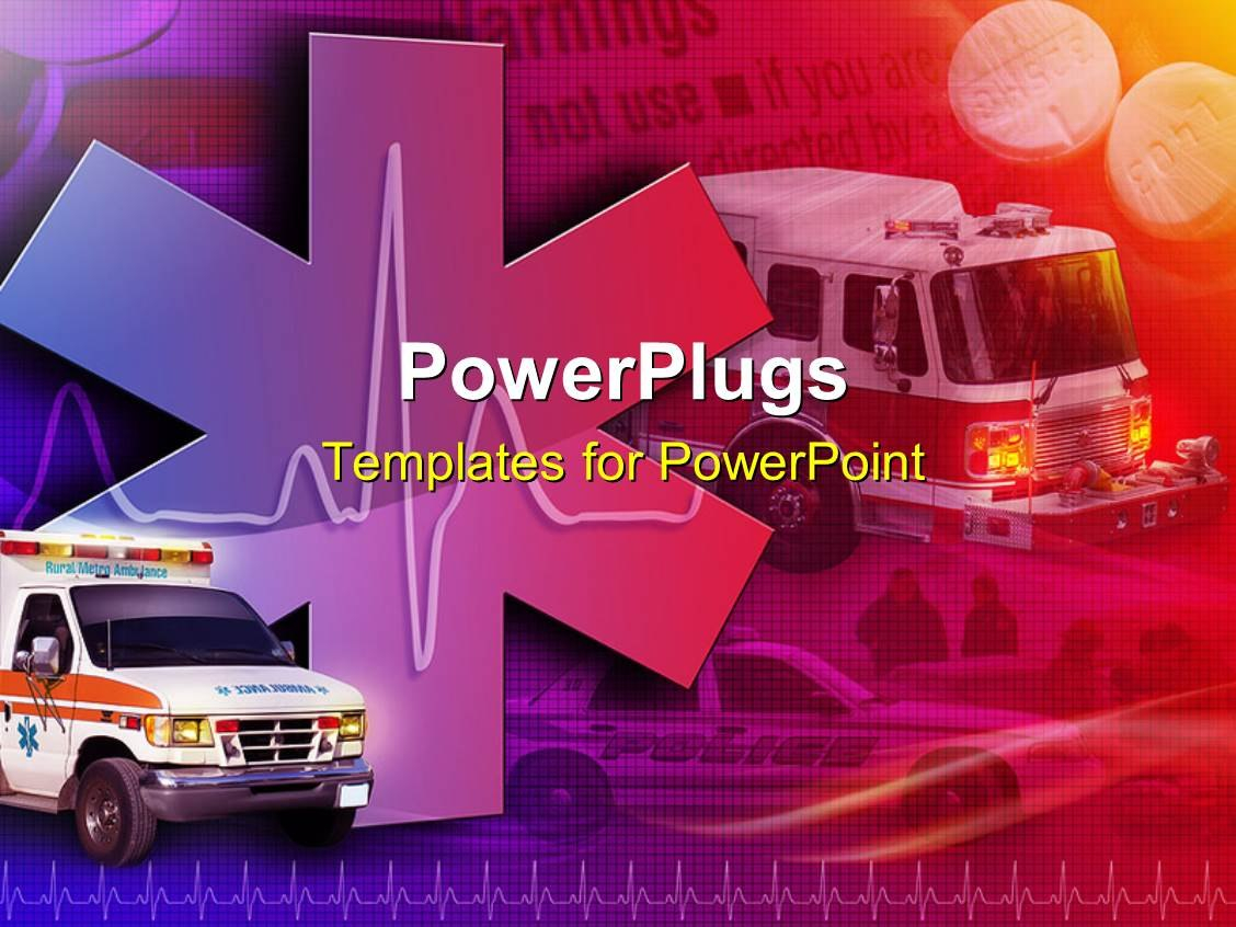 Ambulance Powerpoint Templates W Ambulancethemed Backgrounds Throughout Ambulance Powerpoint Template