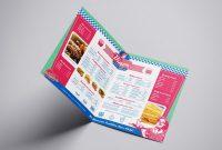 American Diner Folding Menu Template In Psd Ai  Vector  Brandpacks within Diner Menu Template