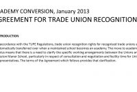 An Allthrough Cooperative School Matthew Lantos Head Teacher pertaining to Trade Union Recognition Agreement Template