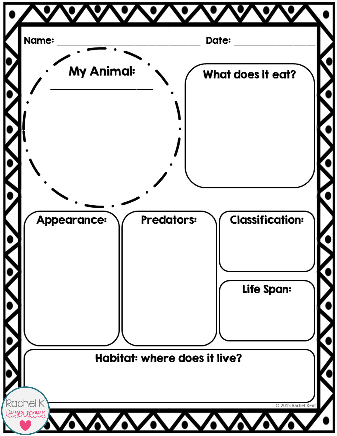Animal Report Template  Tpt Science Lessons  Report Template With Template For Information Report