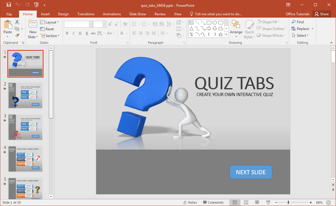 Animated Powerpoint Quiz Template For Conducting Quizzes With Regard To Trivia Powerpoint Template