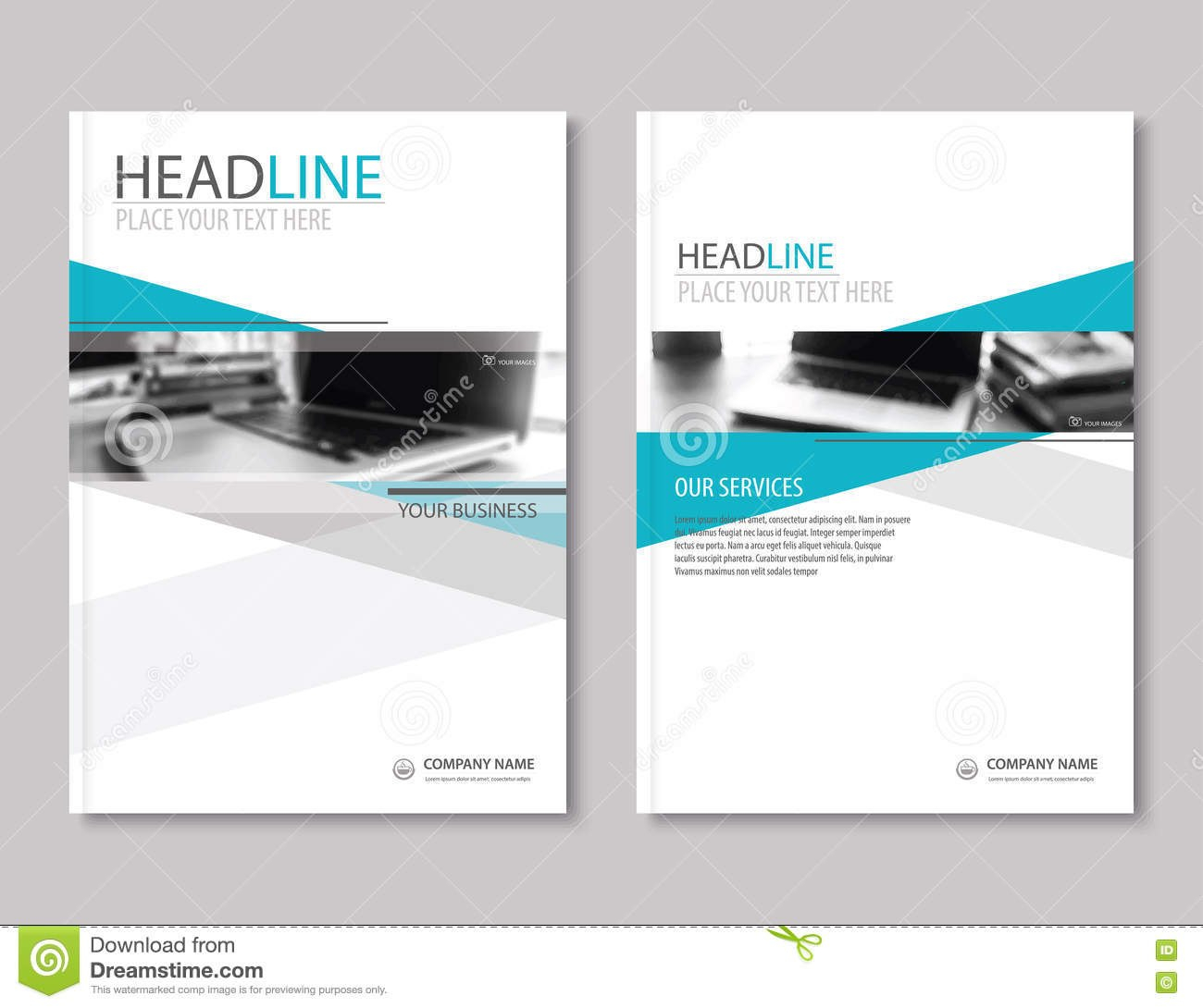 Annual Report Brochure Flyer Design Template Company Profile Stock Regarding Business Profile Template Free Download