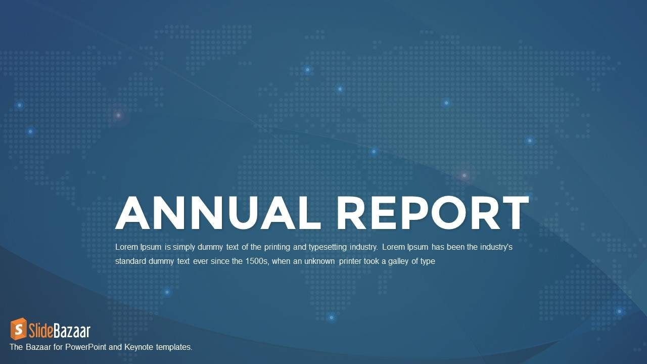 Annual Report Powerpoint Template And Keynote  Slidebazaar With Regard To Annual Report Ppt Template