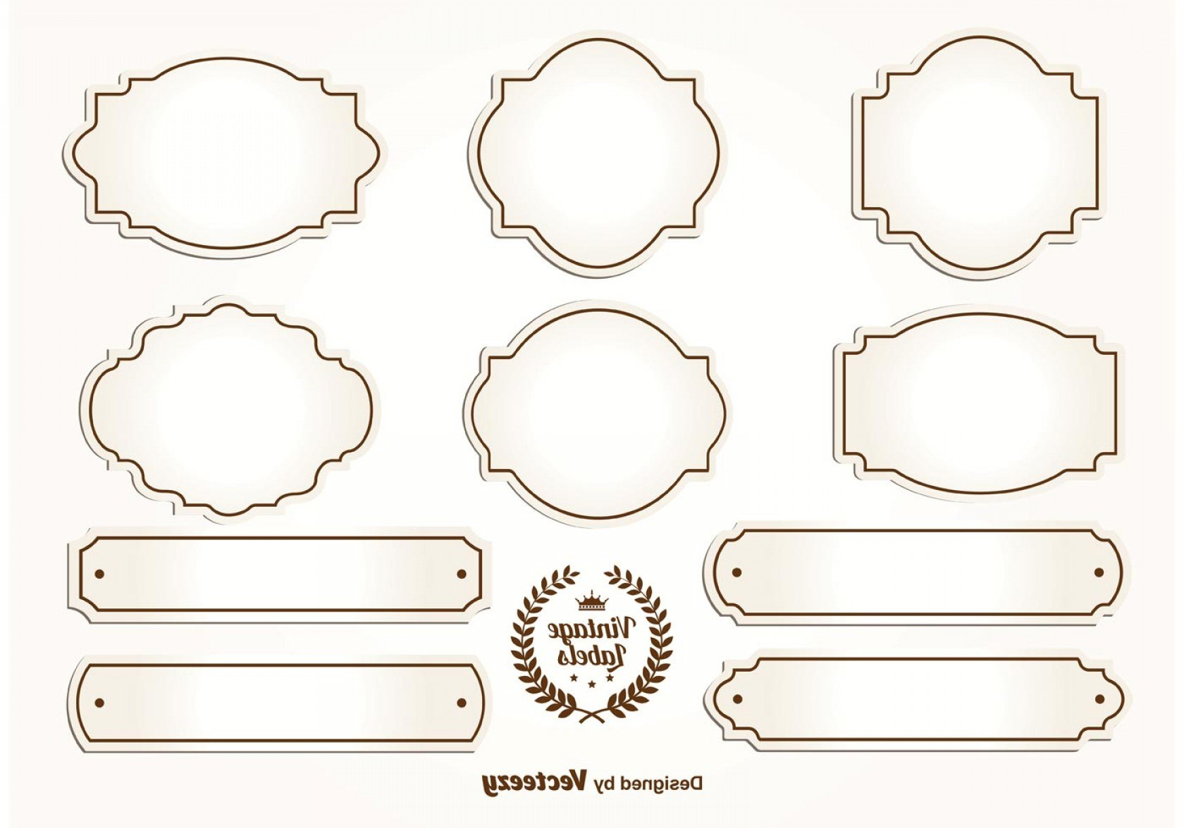 Antique Labels Template Label Vintage Frame Design Typography Stock With Antique Labels Template