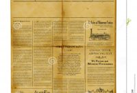 Antique Newspaper Template Stock Image Image Of Information for Old Blank Newspaper Template