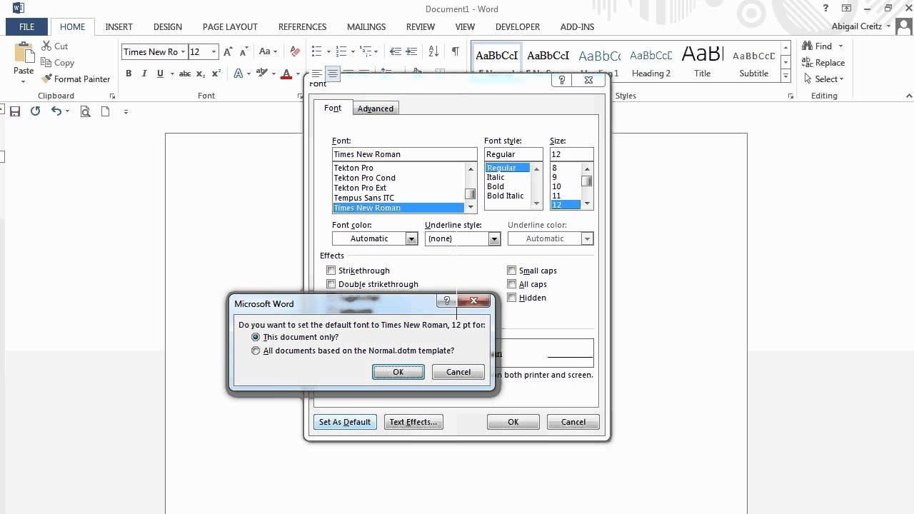 Apa Formatting Microsoft Word  Documents  Youtube Within Apa Format Template Word 2013
