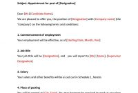 Appointment Letter Format  Indiafilings  Document Center pertaining to Word Employee Suggestion Form Template