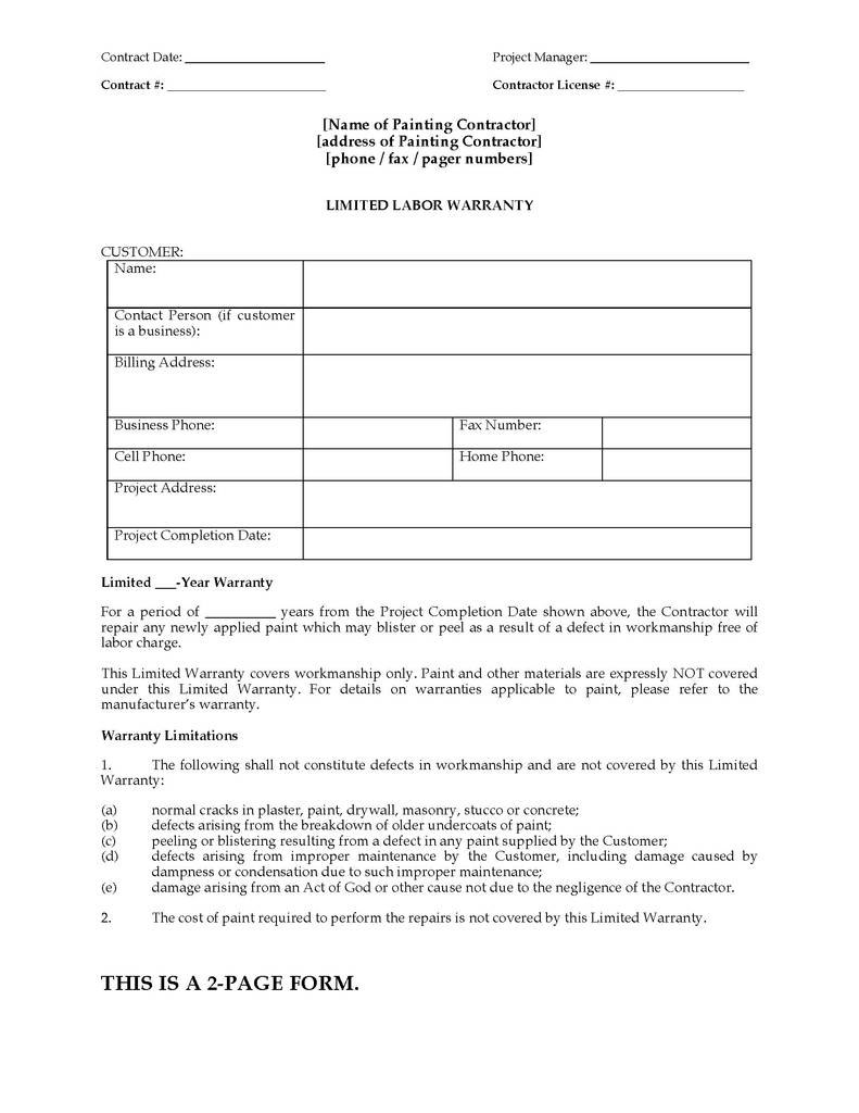 Arbitration Agreement Car Dealer Form Best Of Painting Limited Within Limited Warranty Agreement Template