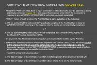Architect's Certification Under The Pam Contract  Preparedar regarding Practical Completion Certificate Template Jct