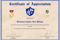 Army Certificate Of Appreciation Design Template In Psd Word regarding Army Certificate Of Appreciation Template