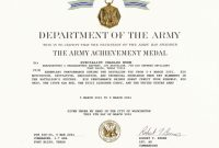 Army Good Conduct Medal Certificate Template  Mandegar Inside Army Good Conduct Medal Certificate Template