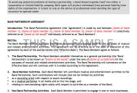 Artist  Band Contract Pack  Contracts inside Brand Licensing Agreement Template