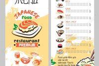 Asian Cuisine Restaurant Menu Template Royalty Free Cliparts inside Asian Restaurant Menu Template