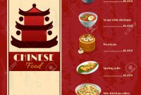 Asian Food Menu Template With Traditional Chinese Food Dishes with Asian Restaurant Menu Template