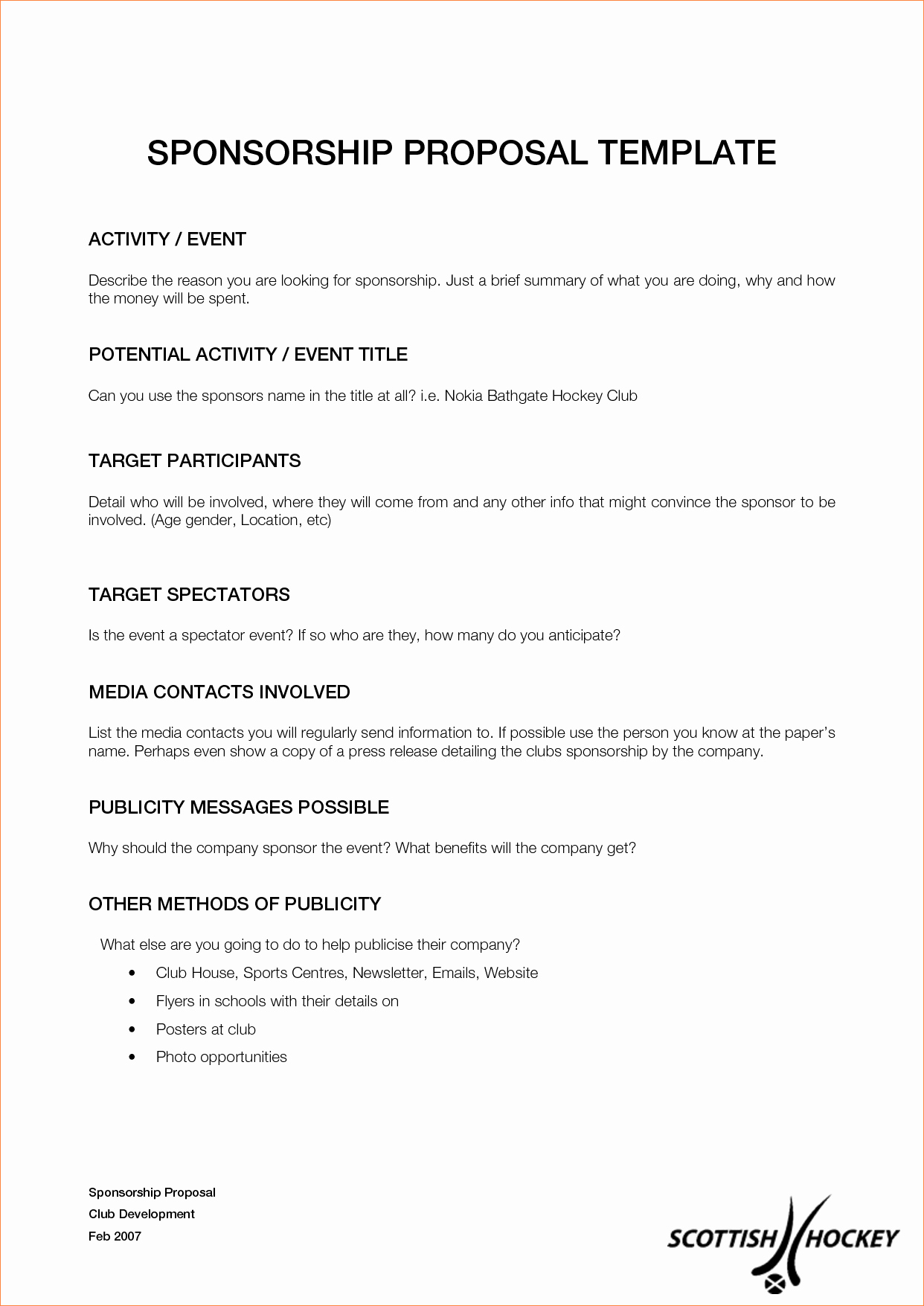 Athlete Sponsorship Proposal Template – Doggiedesigneu In Corporate Sponsorship Agreement Template