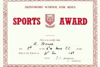 Athletic Certificate Template with Athletic Certificate Template