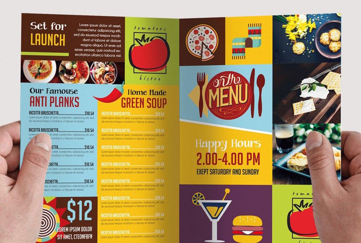 Attention Grabbing Bifold Brochure Free Psd Templates With 2 Fold Brochure Template Psd
