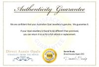 Authenticity Certificate Template  Certificate Of Authenticity with Photography Certificate Of Authenticity Template