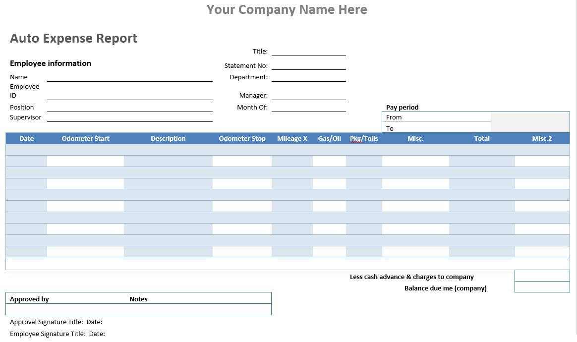 Auto Expense Report Word Template Microsoft Word Templates For Within Microsoft Word Expense Report Template