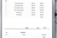 Auto Repair Invoice Auto Repair Service Uses Ipad For Creating An in Ipad Invoice Template