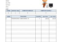 Auto Repair Invoicing Sample within Car Service Invoice Template Free Download