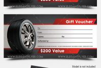 Auto Shop – Premium Gift Certificate Psd Template –Elegantflyer pertaining to Automotive Gift Certificate Template