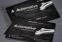Automotive Business Card Voksrider  Graphicriver regarding Automotive Business Card Templates