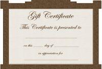 Avon Gift Certificate Template  Clip Art Library within Tattoo Gift Certificate Template